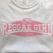 REGGAE GIRL T-SHIRT WHITE & PINK